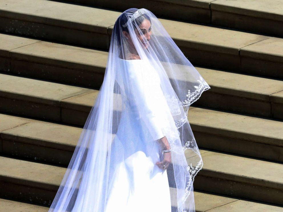 PHOTO: Meghan Markle arrives for the wedding ceremony of Prince Harry and Meghan Markle at St. Georges Chapel in Windsor Castle in Windsor, May 19, 2018.