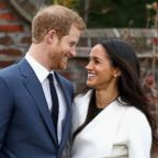 Prince Harry and Meghan Markle during an official photocall to announce their engagement, Nov. 27, 2017 in London, England.