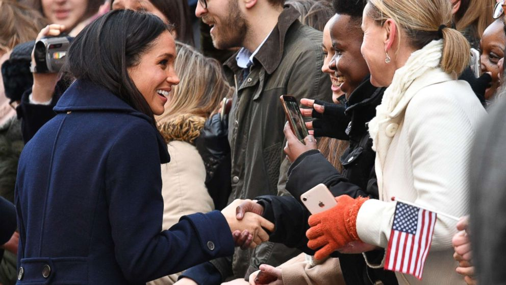 Prince Harry and Meghan Markle visit the Terrence Higgins Trust World AIDS Day Charity Fair in Nottingham, England, Dec. 1, 2017.