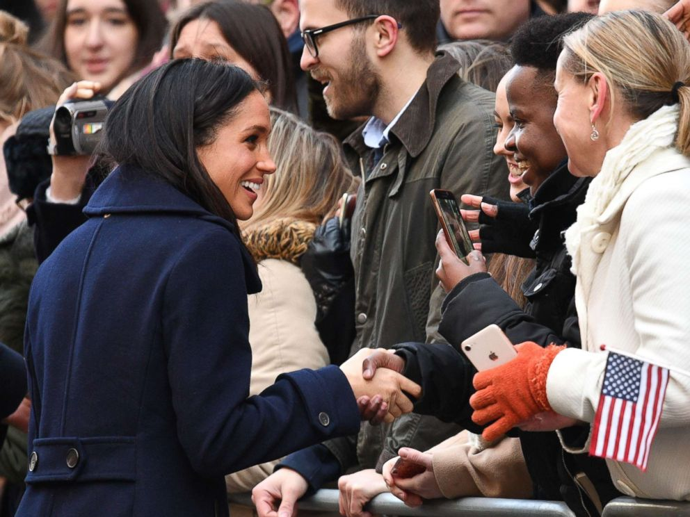 PHOTO: Prince Harry and Meghan Markle visit the Terrence Higgins Trust World AIDS Day Charity Fair in Nottingham, England, Dec. 1, 2017.