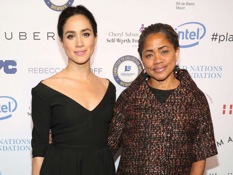 PHOTO: Meghan Markle and Doria Ragland attend UN Womens 20th Anniversary of the Fourth World Conference of Women in Beijing, March 10, 2015 in New York City.