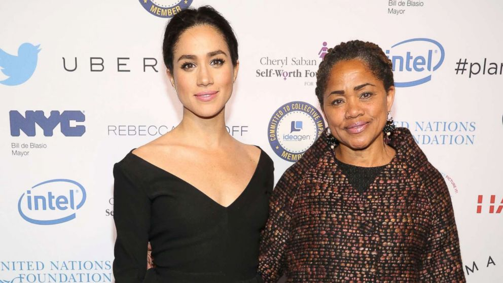 Meghan Markle and Doria Ragland attend UN Women's 20th Anniversary of the Fourth World Conference of Women in Beijing at Manhattan Center at Hammerstein Ballroom on March 10, 2015 in New York City.