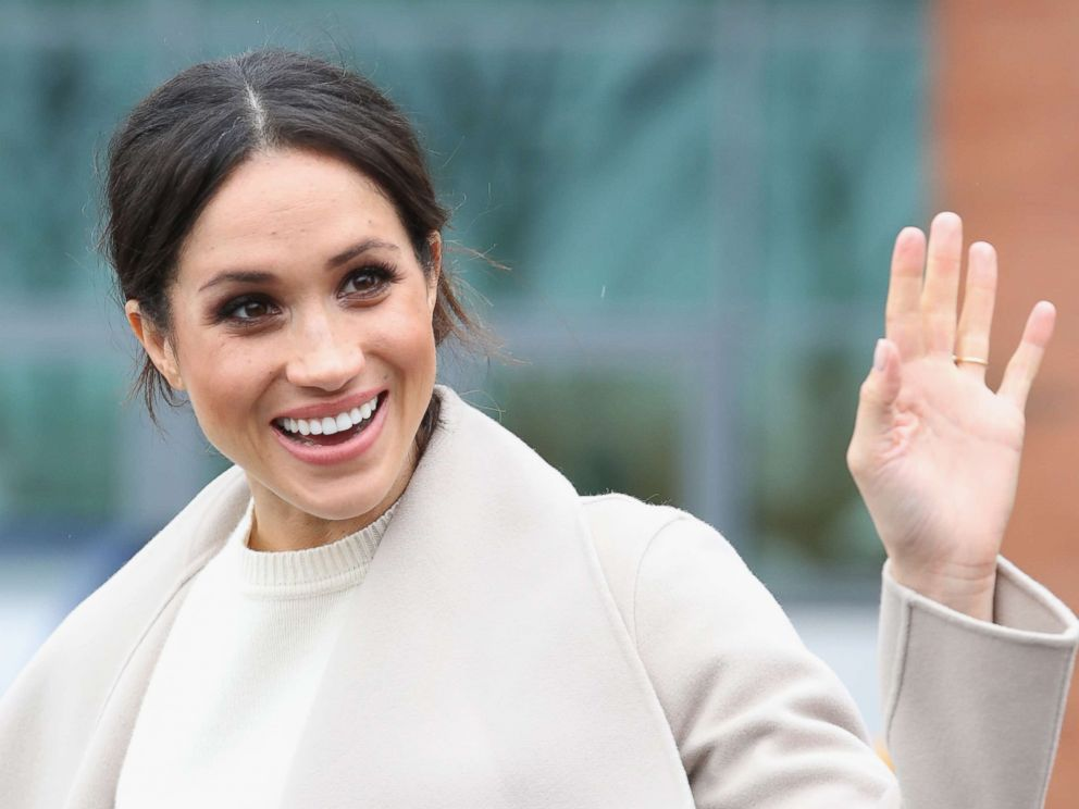 PHOTO: Meghan Markle departs from Catalyst Inc, Northern Irelands next generation science park, March 23, 2018, in Belfast, Nothern Ireland.