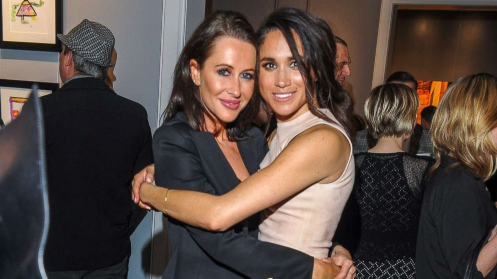 Jessica Mulroney and actress Meghan Markle attend the World Vision event held at Lumas Gallery, March 22, 2016, in Toronto.