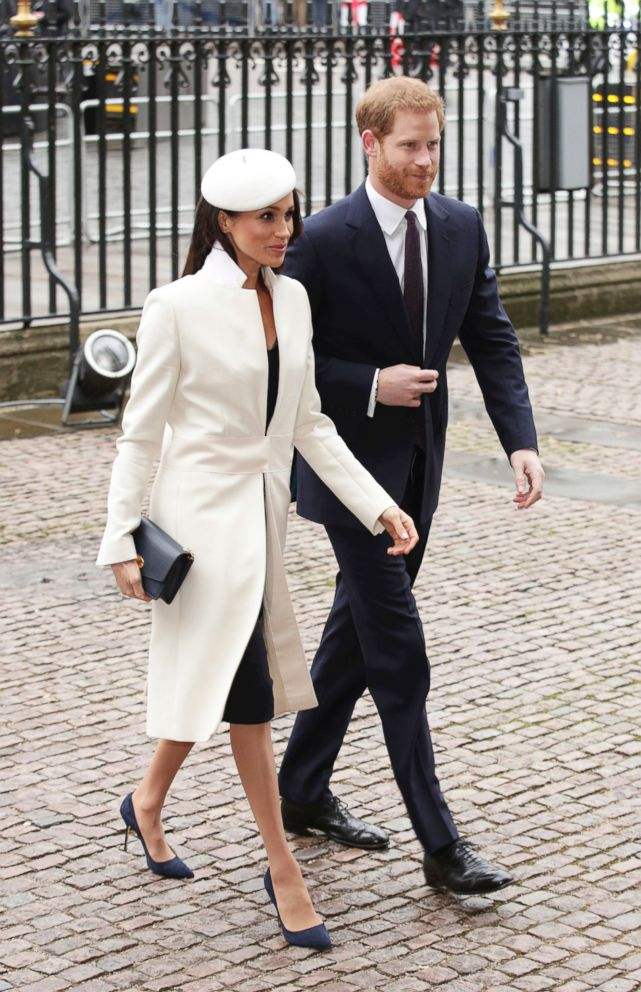PHOTO: Britains Prince Harry and Meghan Markle, arrive for the Commonwealth Service at Westminster Abbey in London, on March 12, 2018.