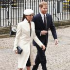Britain's Prince Harry and Meghan Markle, arrive for the Commonwealth Service at Westminster Abbey in London, on March 12, 2018.