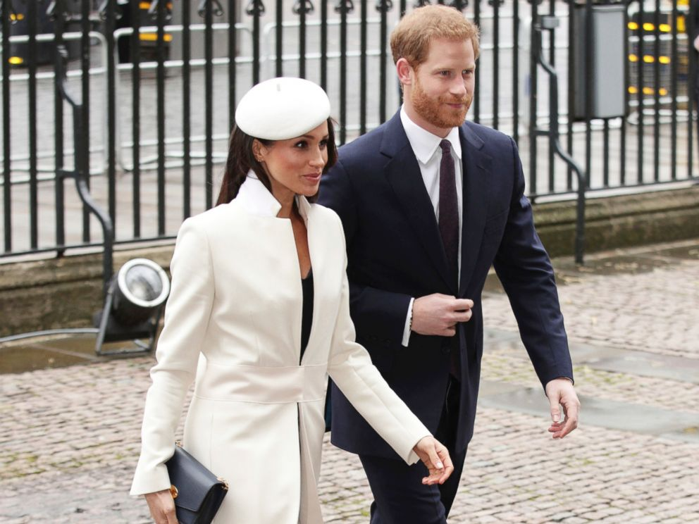 PHOTO: Britains Prince Harry and Meghan Markle, arrive for the Commonwealth Service at Westminster Abbey in London, March 12, 2018.