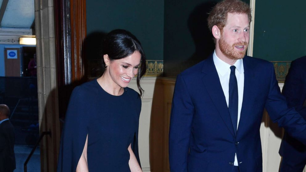 Prince Harry and Meghan Markle arrive at the Royal Albert Hall to attend a star-studded concert to celebrate the Queen's 92nd birthday in London, April 21, 2018.