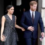 Prince Harry and Meghan Markle leaving after attending a memorial service at St Martin-in-the-Fields in Trafalgar Square, London, April 23, 2018, to commemorate the 25th anniversary of the murder of Stephen Lawrence.