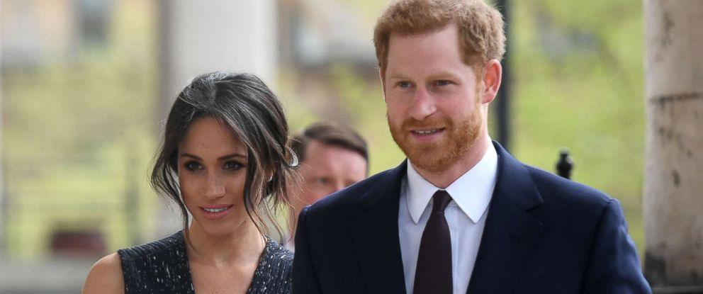 PHOTO: Prince Harry and his fiancee Meghan Markle arrive at an event in London, April 23, 2018.