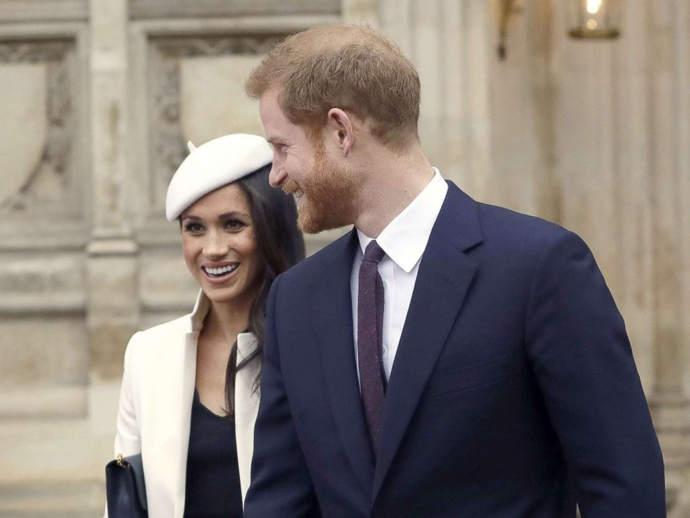 PHOTO: Britains Prince Harry leaves with his fiancee, U.S. actress Meghan Markle after attending a Commonwealth Day Service at Westminster Abbey in central London, March 12, 2018.