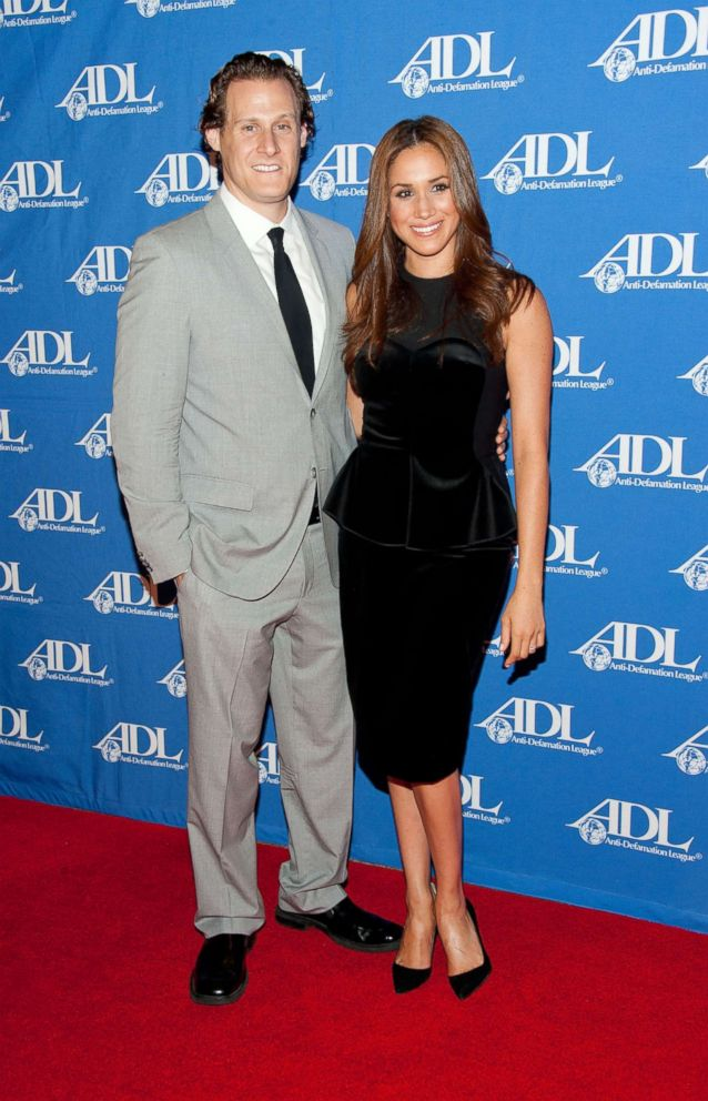 PHOTO: Actress Meghan Markle and her husband Trevor Engelson arrive at the Anti-Defamation League Entertainment Industry Awards Dinner, Oct. 11, 2011 in Beverly Hills.