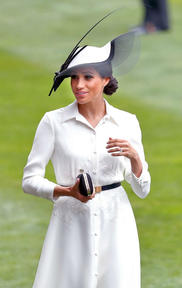 PHOTO: Meghan Markle, Duchess of Sussex attends day 1 of Royal Ascot at Ascot Racecourse, June 19, 2018, in Ascot, England.
