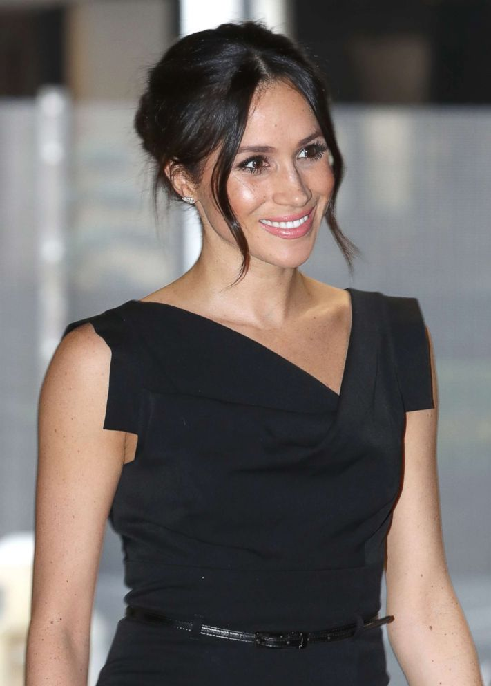 PHOTO: Meghan Markle attends the Womens Empowerment reception hosted by Foreign Secretary Boris Johnson during the Commonwealth Heads of Government Meeting at the Royal Aeronautical Society on April 19, 2018 in London.