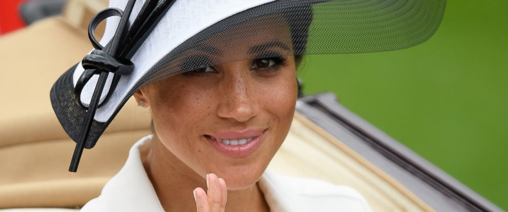 PHOTO: Meghan, Duchess of Sussex attends day 1 of Royal Ascot at Ascot Racecourse, June 19, 2018, in Ascot, England.