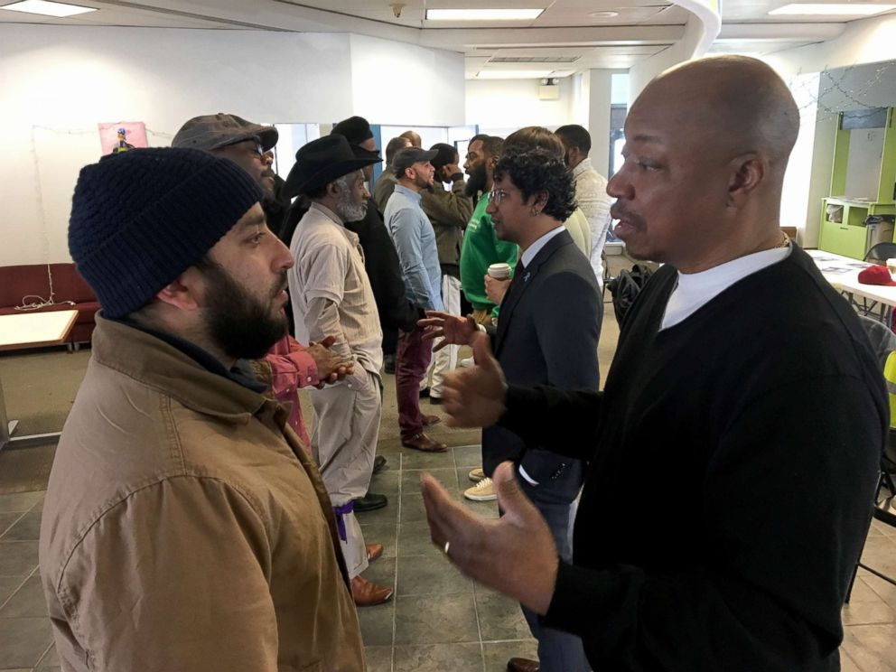 PHOTO: Local Philadelphia men organize for the Men Can program, where organizers hold Community Conversations, involving discussions about racism, domestic violence and last month, one titled, Get Your Boys: Male Accountability in #MeToo.