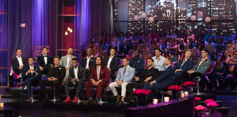 PHOTO: Contestants from The Bachelorette appear on the Men Tell All special, which airs July 30, 2018 on ABC.