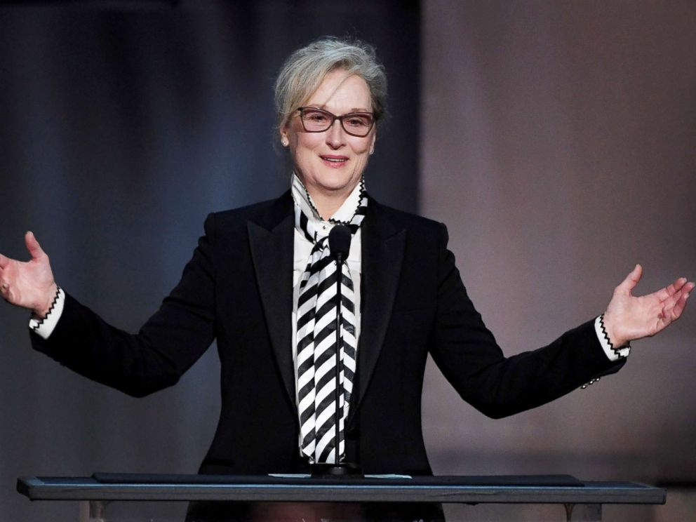 PHOTO: Meryl Streep speaks onstage during American Film Institutes 45th Life Achievement Award gala tribute to Diane Keaton at Dolby Theatre, June 8, 2017, in Hollywood, Calif.