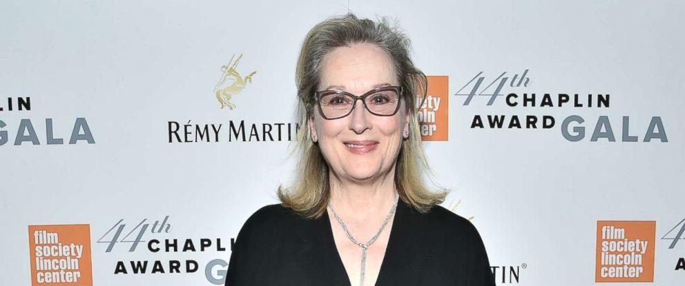 PHOTO: Actress Meryl Streep backstage during the 44th Chaplin Award Gala at David H. Koch Theater at Lincoln Center, May 8, 2017 in New York City.