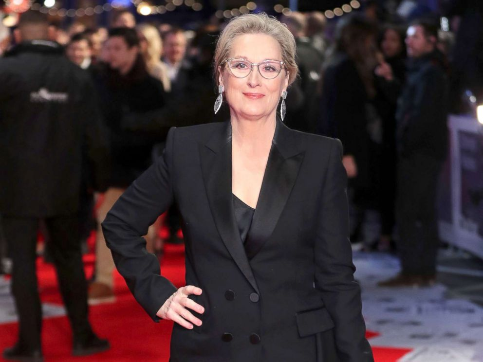 PHOTO: Actress Meryl Streep poses on the red carpet on arrival for the European Premiere of the film, The Post in London, Jan. 10, 2018.