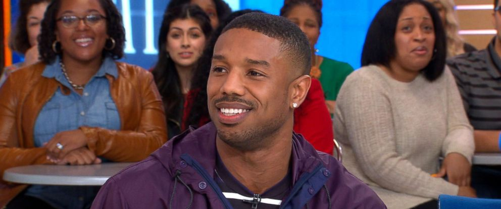 "PHOTO: Michael B. Jordan speaks to ""Good Morning America"" about his upcoming film ""Farenheit 451,"" May 7, 2018."