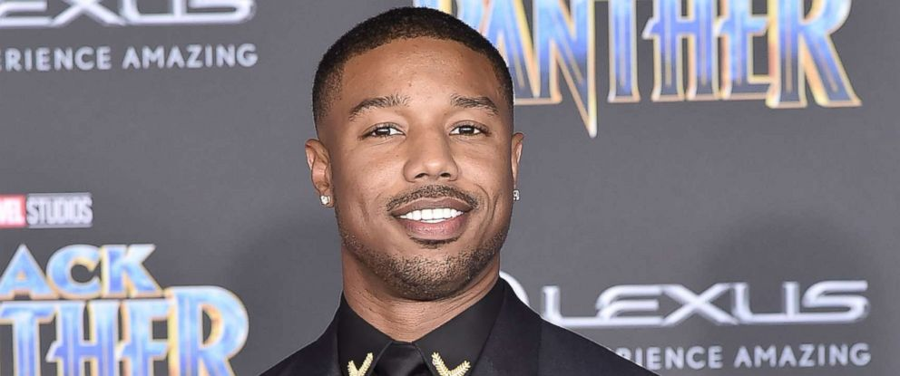 "PHOTO: Michael B Jordan attends the Premiere Of Disney And Marvels ""Black Panther, "" Jan. 29, 2018, in Hollywood, Calif."