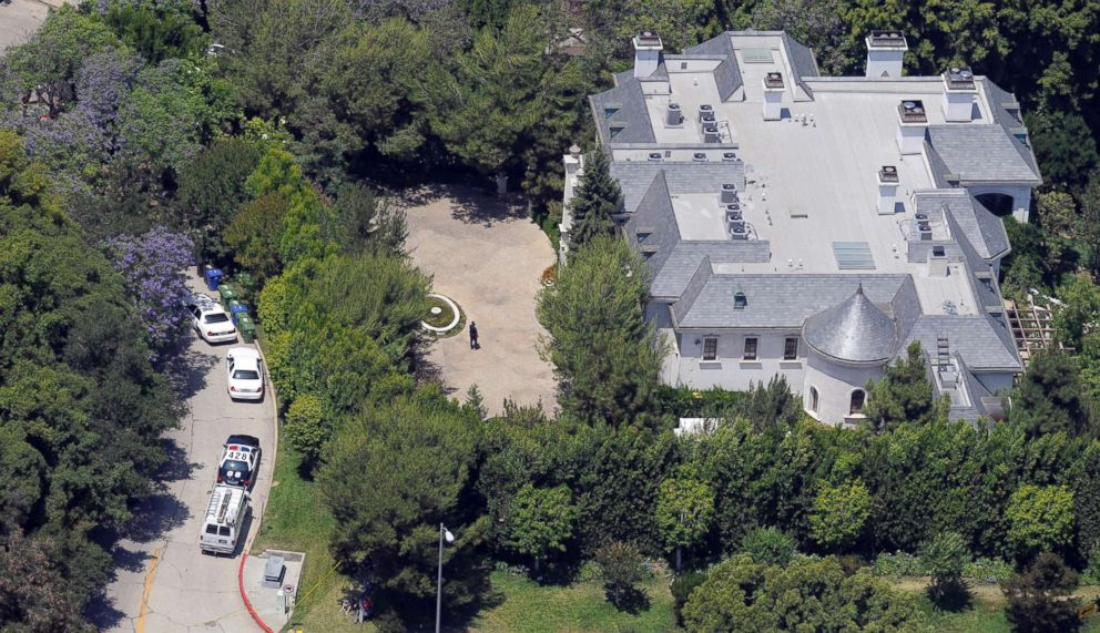 PHOTO: The rented home of Michael Jackson seen from the air, June 29, 2009, in the Holmby Hills section of Los Angeles. Jackson died Thursday at UCLA Medical Center after being stricken at this rented home in Holmby Hills.