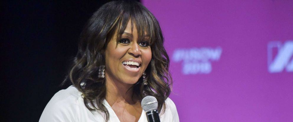 PHOTO: Former First Lady of the U.S. Michelle Obama at the U.S. of Women Summit 2018, May 5, 2018, in Los Angeles.