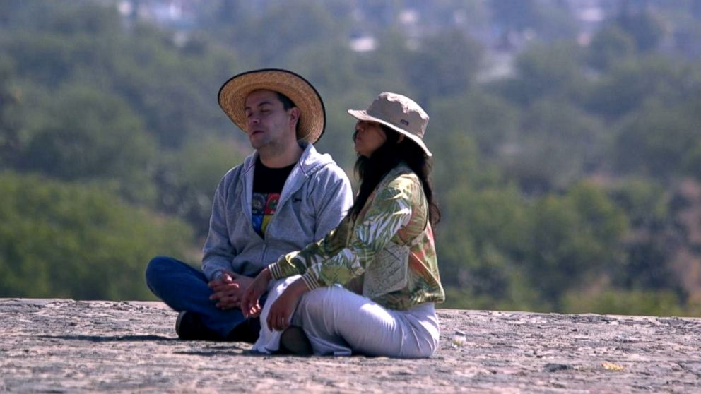 PHOTO: Actress Michelle Rodriguez embarked on a spiritual journey in Mexico with teacher Sergio Magana, left.