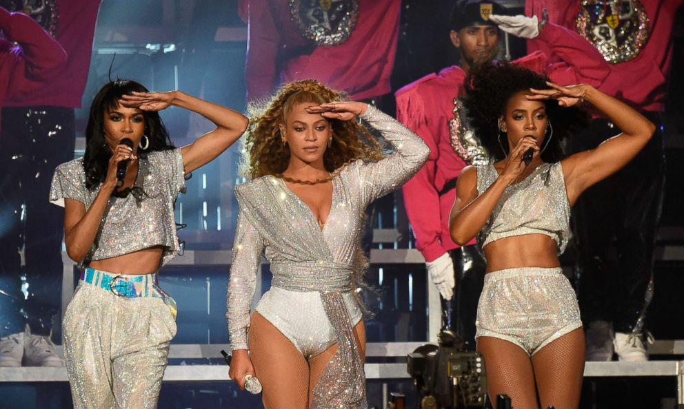 PHOTO: Michelle Williams, Beyonce Knowles and Kelly Rowland of Destinys Child perform onstage during the 2018 Coachella Valley Music And Arts Festival at the Empire Polo Field, April 21, 2018, in Indio, Calif.