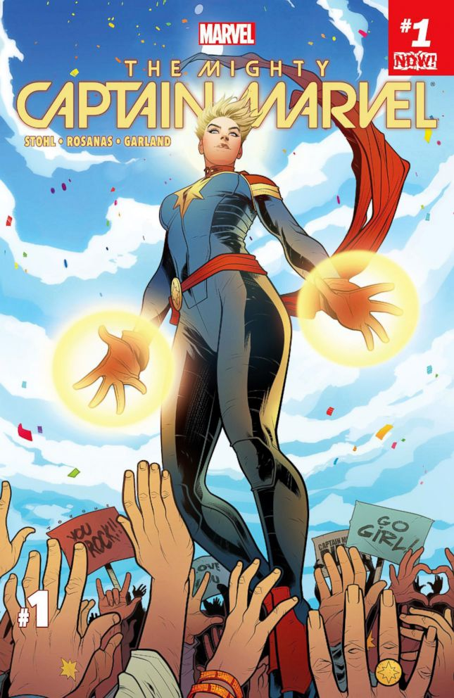 PHOTO: The Mighty Captain Marvel cover art.