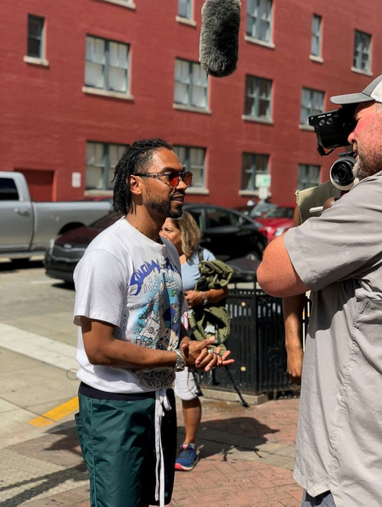 PHOTO: GMA caught up with music star Miguel at the 2018 Essence Festival in New Orleans.