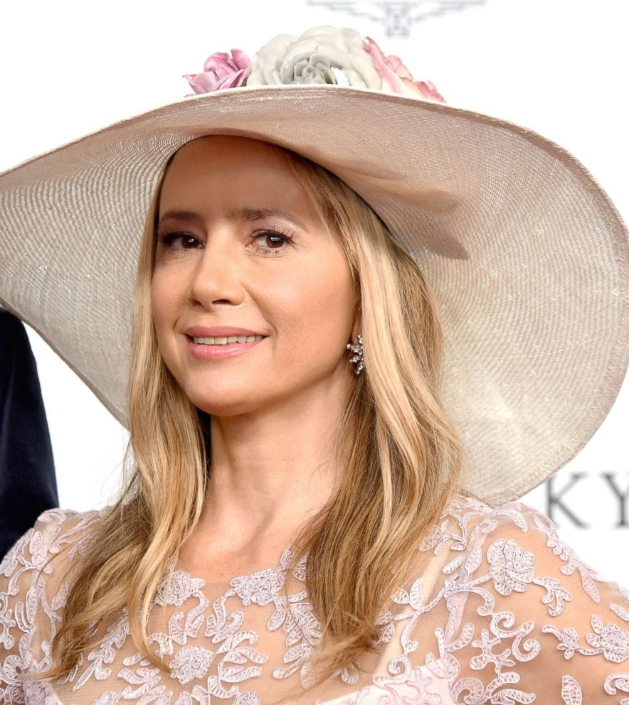 PHOTO: Mira Sorvino attends Kentucky Derby 144 on May 5, 2018, in Louisville, Ky.