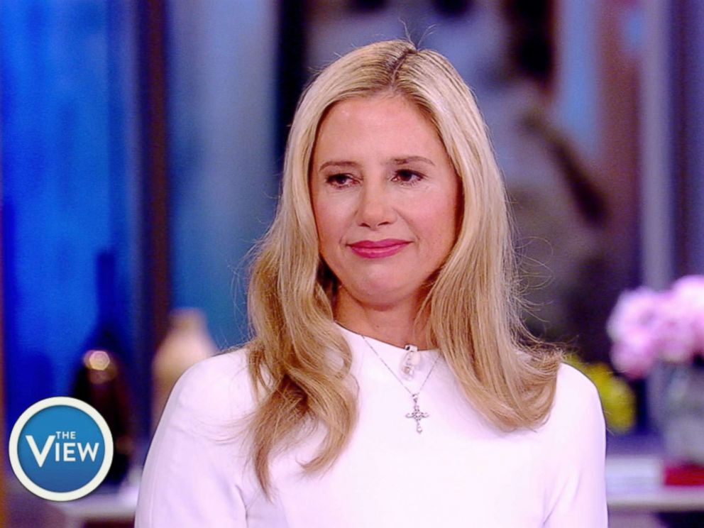 PHOTO: Mira Sorvino appears on The View, June 6, 2018.