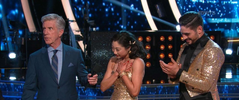 "PHOTO: Mirai Nagasu and Alan Bersten on ""Dancing with the Stars,"" May 15, 2018."