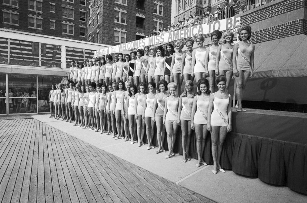 PHOTO: Contestants compete to be crowned Miss America 1970, Atlantic City, N.J., Sept. 4, 1969.
