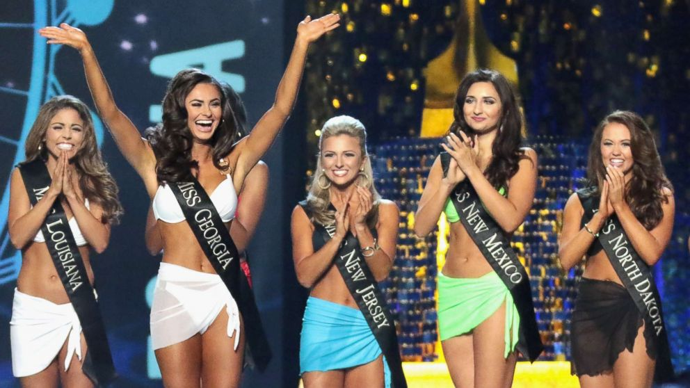 Miss Georgia 2017, Alyssa Beasley participates in  the swimsuit challenge during Miss America 2018 at Boardwalk Hall Arena, Sept. 7, 2017, in Atlantic City, N.J.