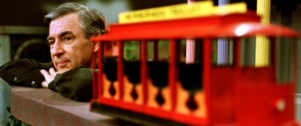 "PHOTO: Fred Rogers during a taping of his show "" Mister Rogers Neighborhood,"" May 27, 1993."