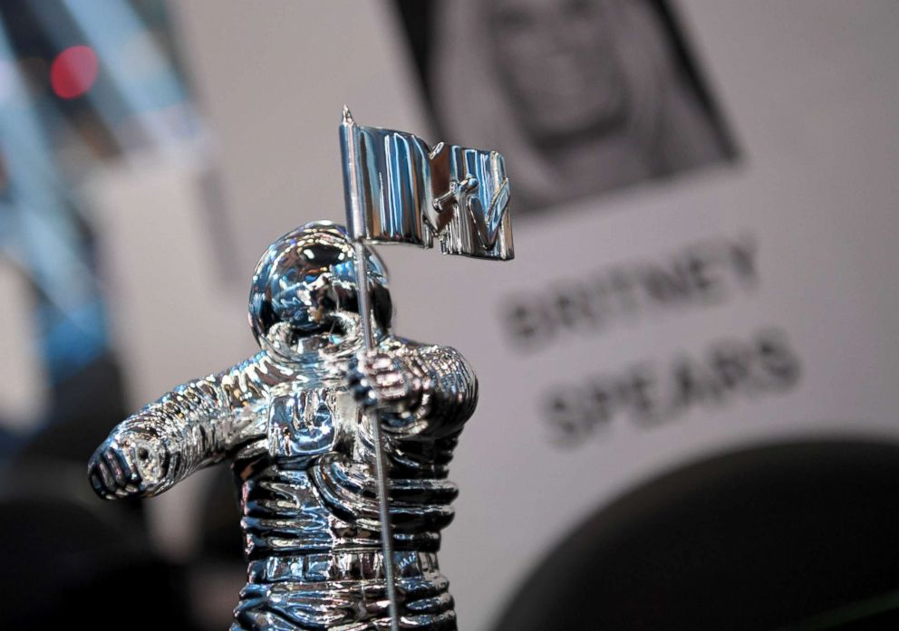 PHOTO: A Moon Man trophy is seen during the 2016 MTV Video Music Awards Press Junket at Madison Square Garden, Aug. 25, 2016, in New York.