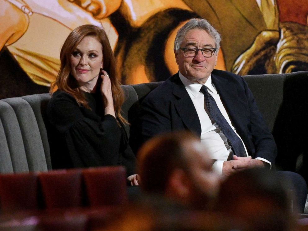 PHOTO: Julianne Moore, Robert De Niro and Alec Baldwin attend Spikes One Night Only: Alec Baldwin at The Apollo Theater, June 25, 2017, in New York City.