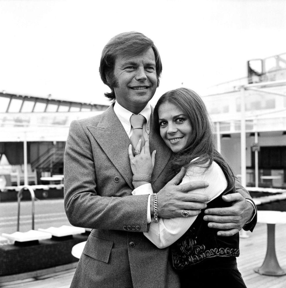 Robert Wagner with wife Natalie Wood, April 23, 1972.