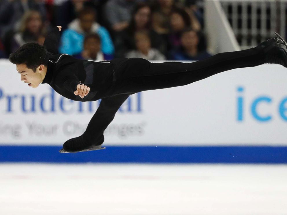 PHOTO: Nathan Chen performs during the mens free skate event at the U.S. Figure Skating Championships in San Jose, Calif., Jan. 6, 2018.