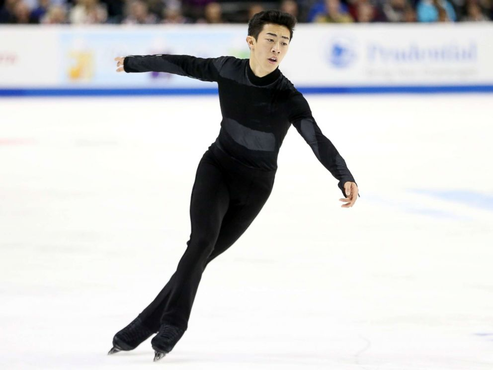 PHOTO: Nathan Chen competes in the Mens Free Skate during the 2018 Prudential U.S. Figure Skating Championships at the SAP Center on Jan. 6, 2018 in San Jose, Calif.