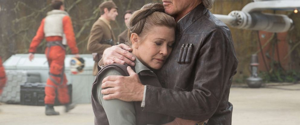 "PHOTO: Carrie Fisher and Harrison Ford star in ""Star Wars: Episode VII - The Force Awakens."""