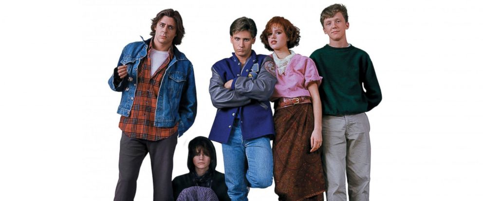 PHOTO: Judd Nelson, Ally Sheedy, Emilio Estevez, Molly Ringwald, and Anthony Michael Hall in The Breakfast Club