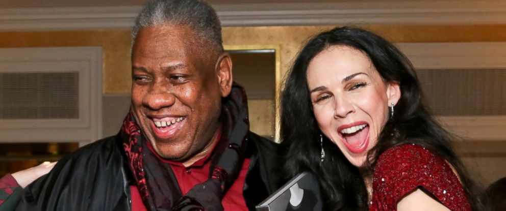 PHOTO: Andre Leon Talley and LWren Scott attend a dinner at the Carlyle Hotel in New York City on Dec. 10, 2012.