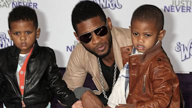 PHOTO: Usher and sons