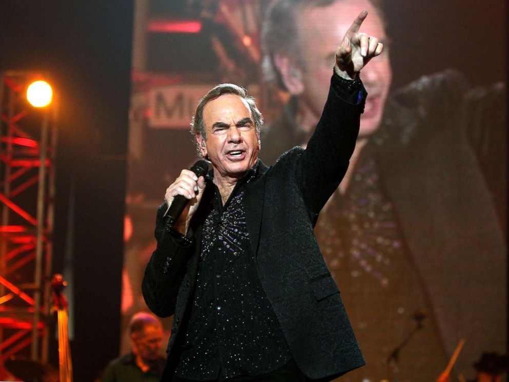 PHOTO: Neil Diamond Performs on the MusiCares Person of the Year 2009 at the Los Angeles Convention Center in Los Angeles on February 6, 2009 after being honored