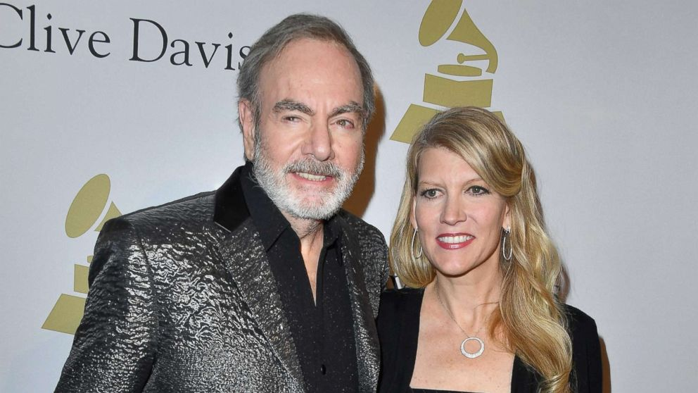 Singer-songwriter Neil Diamond with his wife, Katie McNeil, attend a pre-Grammy event at The Beverly Hilton, Feb. 11, 2017 in Los Angeles, Calif.