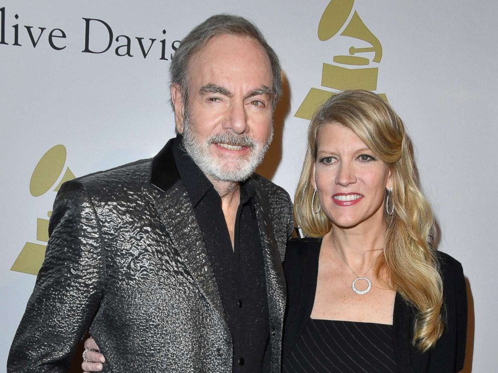 PHOTO: Singer-songwriter Neil Diamond with his wife, Katie McNeil, attend a pre-Grammy event at The Beverly Hilton, Feb. 11, 2017 in Los Angeles, Calif.